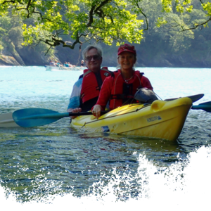 Two happy people on SUP Kayak Trips